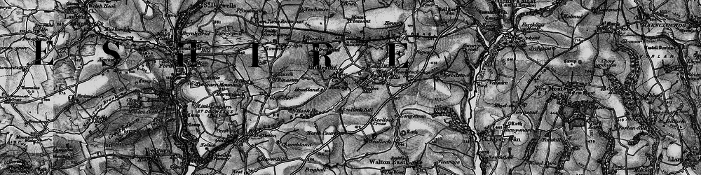 Old map of Ambleston in 1898