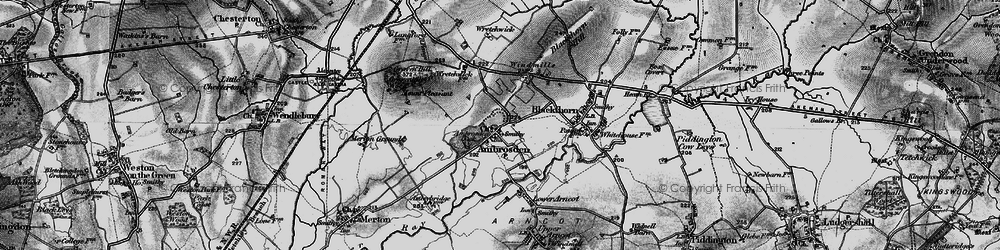 Old map of Ambrosden in 1896