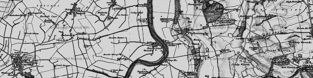 Old map of Amcotts in 1895