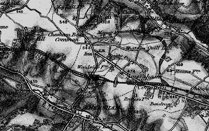 Old map of Amersham in 1896