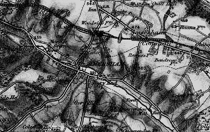 Old map of Amersham Common in 1896