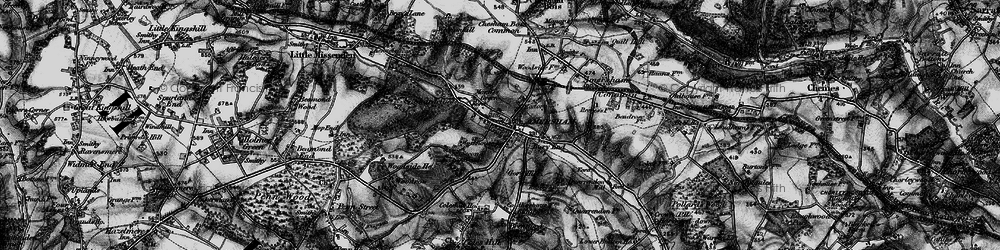 Old map of Amersham Old Town in 1896