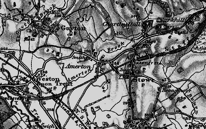 Old map of Amerton in 1897