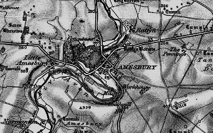 Old map of Amesbury in 1898