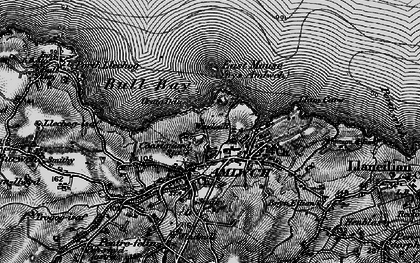 Old map of Amlwch in 1899
