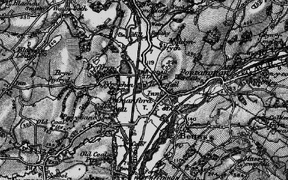 Old map of Ammanford/Rhydaman in 1897