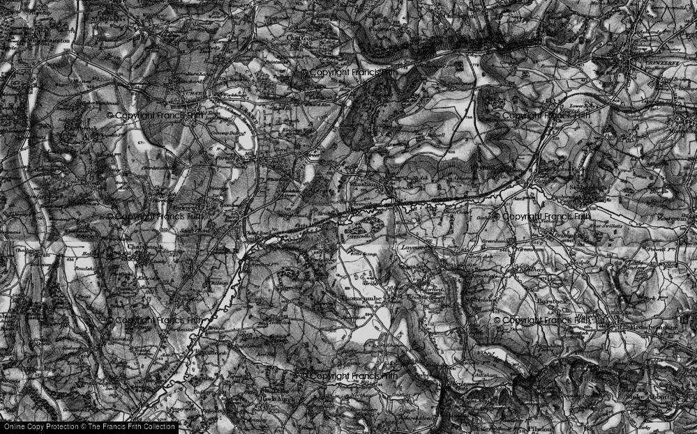 Old Map of Historic Map covering Forde Abbey in 1898