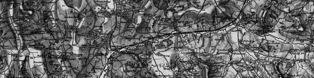 Old map of Forde Abbey in 1898