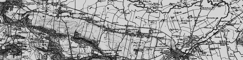 Old map of Amotherby in 1898