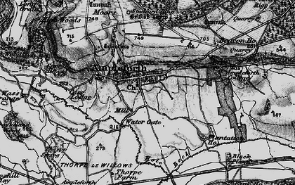Old map of Ampleforth in 1898