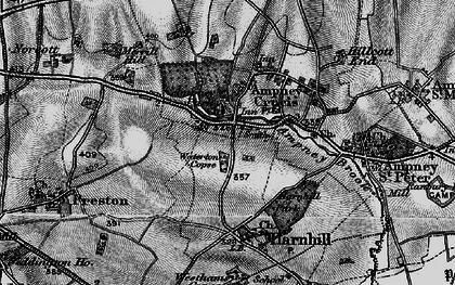 Old map of Ampney Crucis in 1896