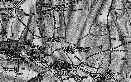 Old map of Ampney St Mary in 1896