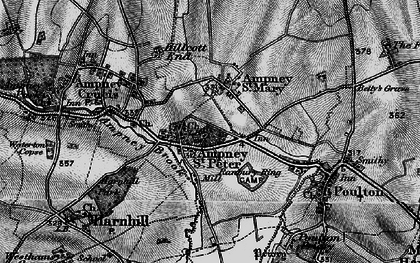 Old map of Ampney St Peter in 1896
