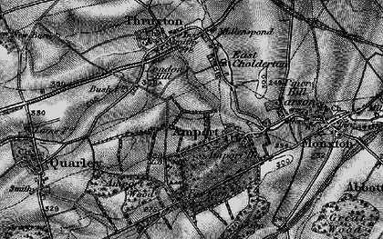 Old map of Amport in 1895