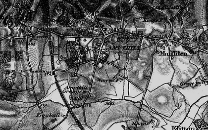 Old map of Ampthill in 1896