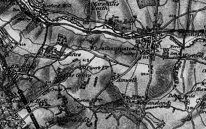 Old map of Amwell in 1896