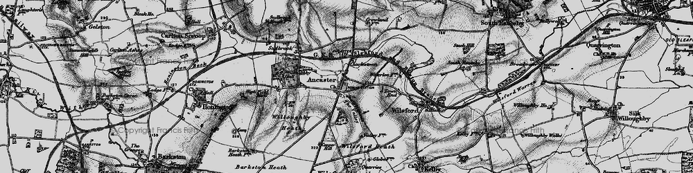 Old map of Ancaster in 1895
