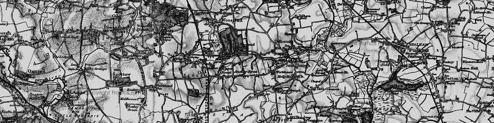 Old map of Anchor Street in 1898