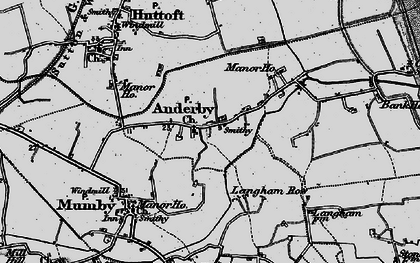Old map of Anderby in 1898