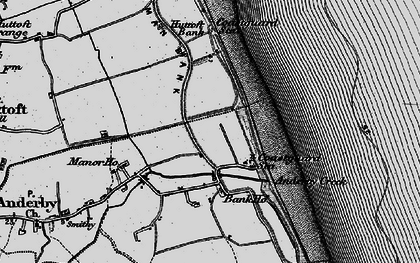 Old map of Anderby Creek in 1898