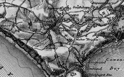 Old map of Anderton in 1896