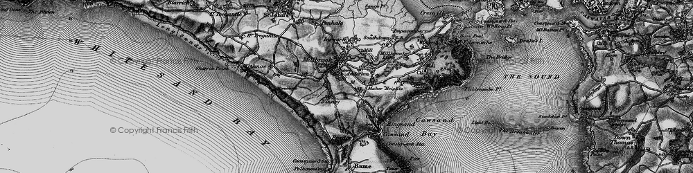 Old map of Wiggle in 1896