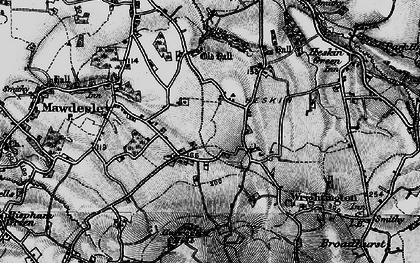 Old map of Andertons Mill in 1896