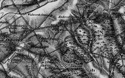 Old map of Balls Cotts in 1895