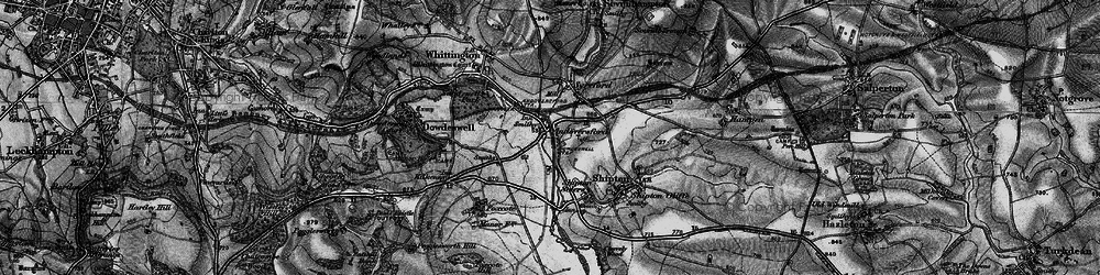 Old map of Andoversford in 1896