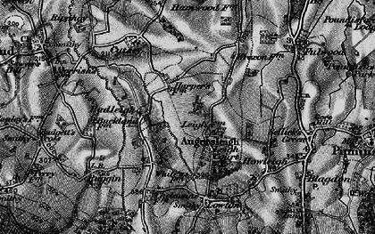 Old map of Angersleigh in 1898