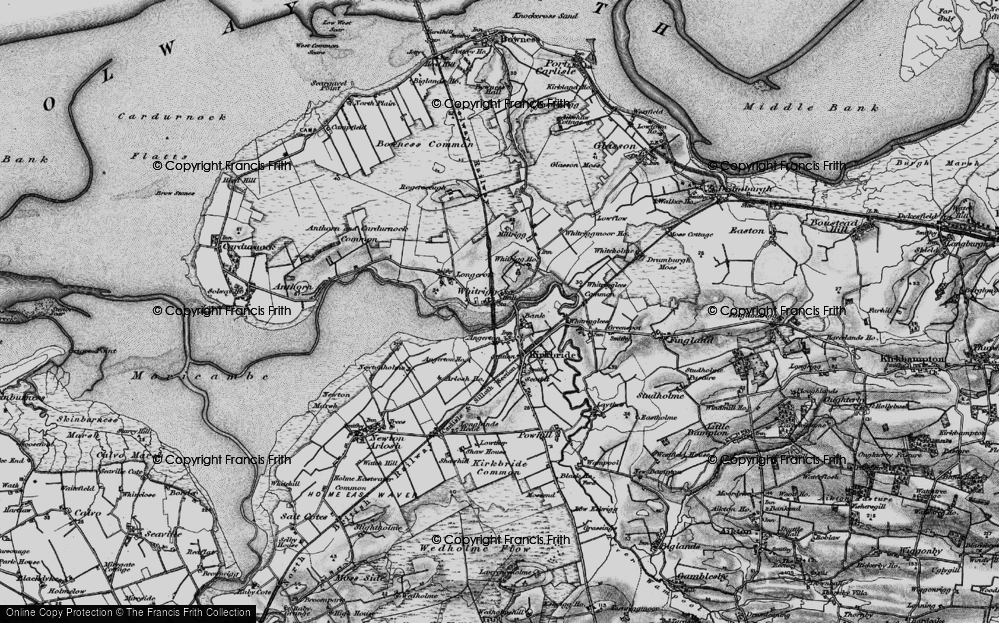 Old Map of Historic Map covering Whitrigg Ho in 1897