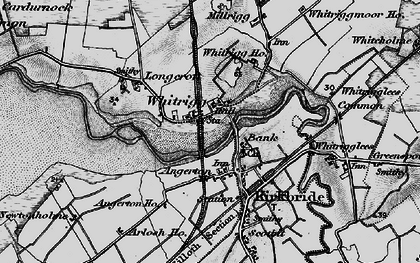 Old map of Whitrigg Ho in 1897