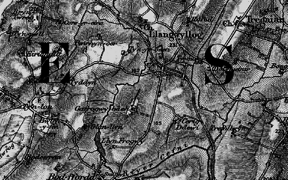 Old map of Anglesey/Ynysmôn in 1899