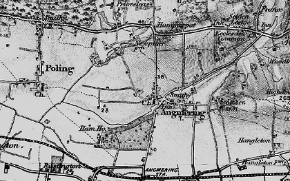 Old map of Angmering in 1895