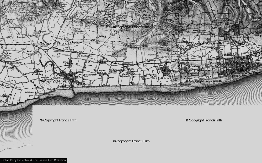 Old Map of Angmering-on-Sea, 1895 in 1895