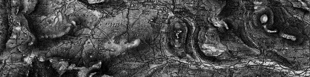Old map of Thwaite Common in 1897
