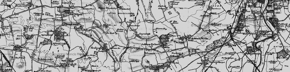 Old map of Angram in 1898