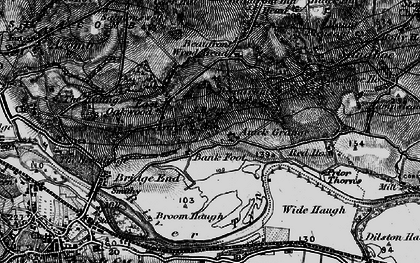 Old map of Anick Grange in 1898