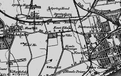 Old map of Anlaby Park in 1895