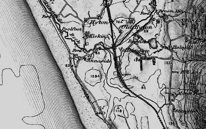 Old map of Barfield Tarn in 1897