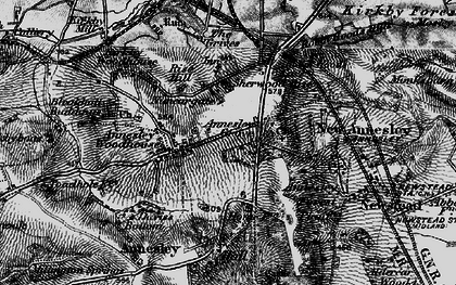Old map of Annesley in 1895