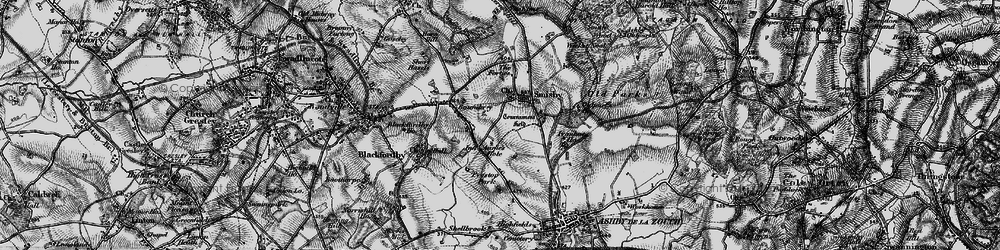 Old map of Annwell Place in 1895
