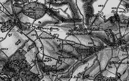 Old map of Ansells End in 1896