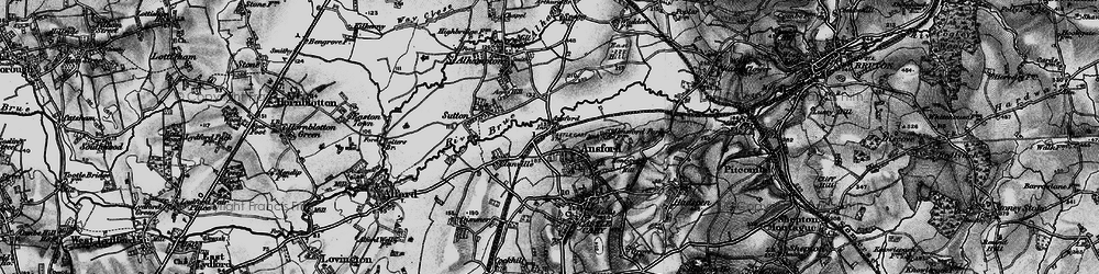 Old map of Ansford in 1898