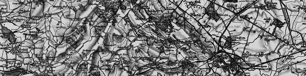 Old map of Ansley Common in 1899