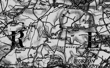 Old map of Anslow in 1898
