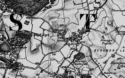 Old map of Anstey in 1899