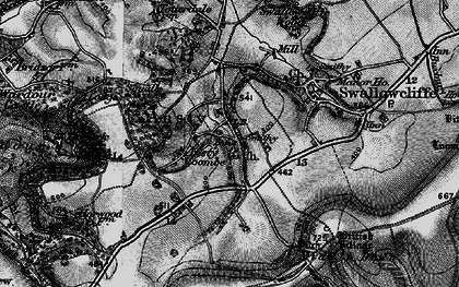 Old map of Ansty in 1895