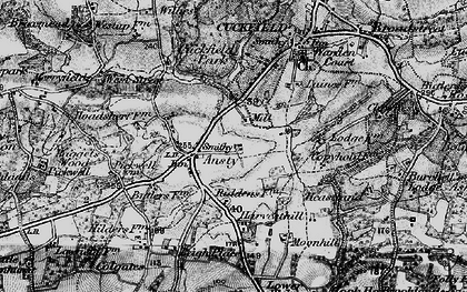 Old map of West Riddens in 1895