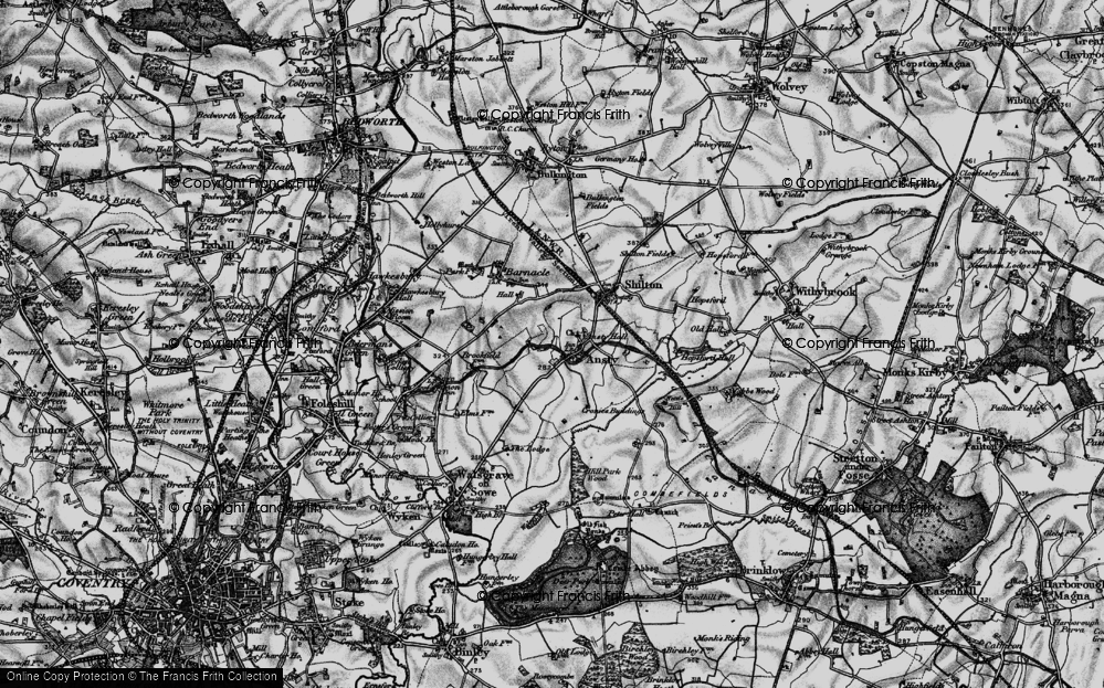 Old Map of Ansty, 1899 in 1899